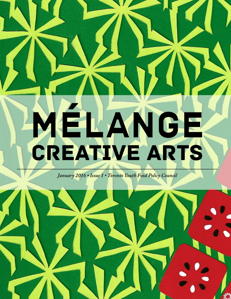 Melange Creative Arts Journal Cover Issue 1: Graphic Artwork inspired by a square watermelon